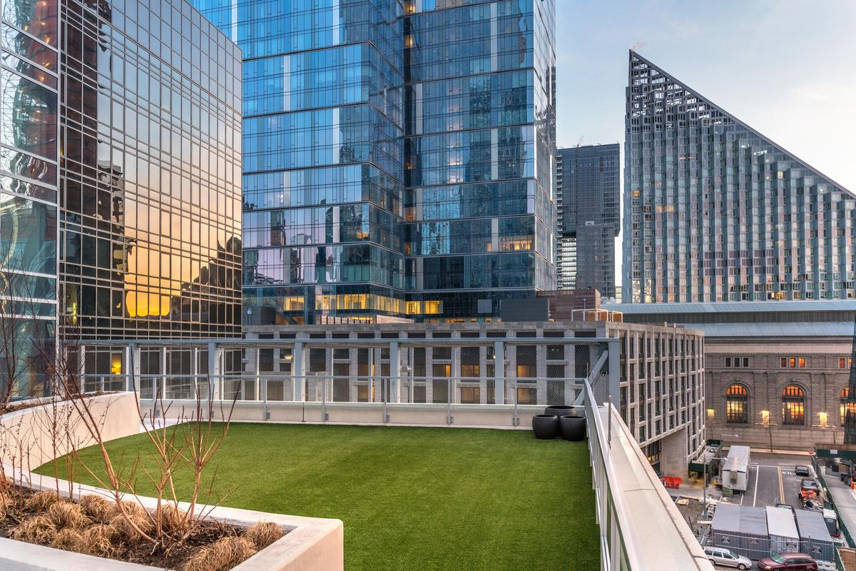 Lawn area on roof deck on 10th floor